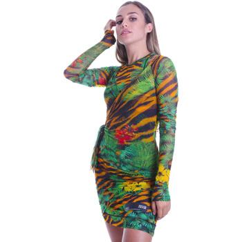 Oblačila Ženske Kratke obleke Versace D2HVB495S0782983 Črna
