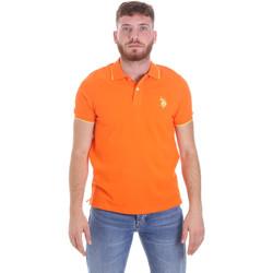 Oblačila Moški Polo majice kratki rokavi U.S Polo Assn. 58561 41029 Oranžna