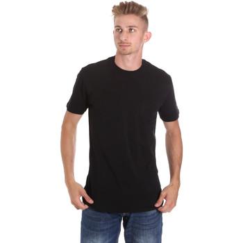 Oblačila Moški Majice s kratkimi rokavi Les Copains 9U9010 Črna