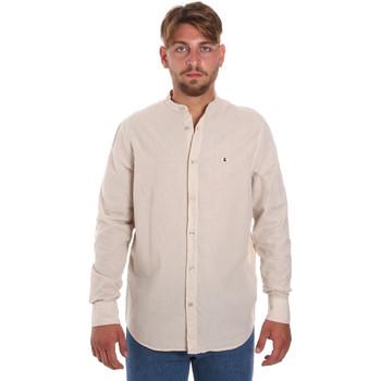 Oblačila Moški Srajce z dolgimi rokavi Les Copains 9U2722 Bež