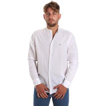 Oblačila Moški Srajce z dolgimi rokavi Les Copains 9U2722 Biely