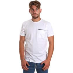Oblačila Moški Majice s kratkimi rokavi Antony Morato MMKS01798 FA100212 Biely