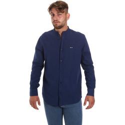 Oblačila Moški Srajce z dolgimi rokavi Les Copains 9U2722 Modra