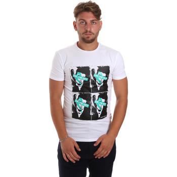 Oblačila Moški Majice s kratkimi rokavi Antony Morato MMKS01743 FA120001 Biely
