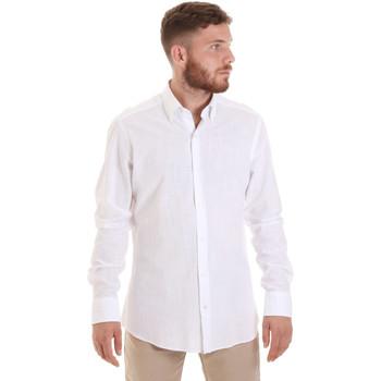 Oblačila Moški Srajce z dolgimi rokavi Les Copains 20P.689 P700SL Biely