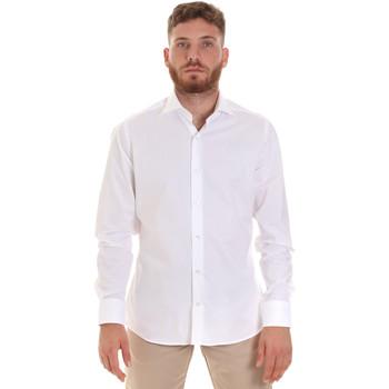 Oblačila Moški Srajce z dolgimi rokavi Les Copains 000.076 P3196 Biely