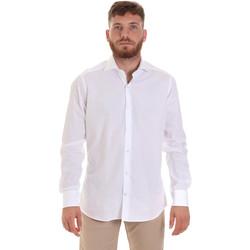 Oblačila Moški Srajce z dolgimi rokavi Les Copains 000.006 P3196SL Biely
