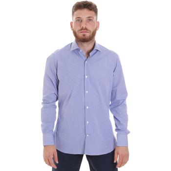 Oblačila Moški Srajce z dolgimi rokavi Les Copains 20P.621 P3196SL Modra