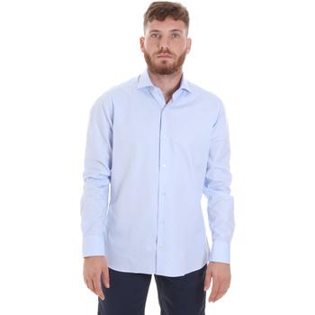 Oblačila Moški Srajce z dolgimi rokavi Les Copains 20P.887 P3196SL Modra