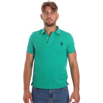 Oblačila Moški Polo majice kratki rokavi U.S Polo Assn. 55985 41029 Zelena