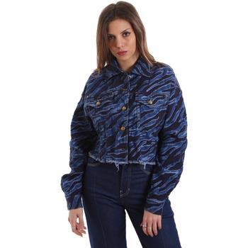 Oblačila Ženske Jeans jakne Versace C0HVB939AQC5Q904 Modra