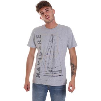 Oblačila Moški Majice s kratkimi rokavi Navigare NV31109 Siva