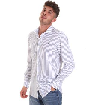 Oblačila Moški Srajce z dolgimi rokavi U.S Polo Assn. 58829 52741 Modra