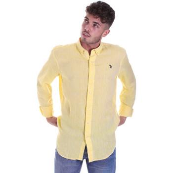 Oblačila Moški Srajce z dolgimi rokavi U.S Polo Assn. 58574 50816 Rumena