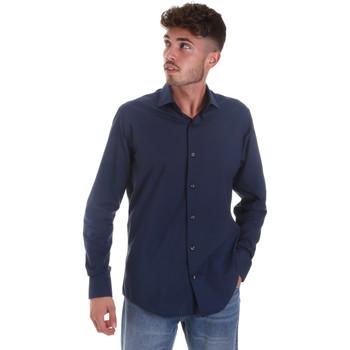 Oblačila Moški Srajce z dolgimi rokavi Les Copains 18P.884 P3196SL Modra