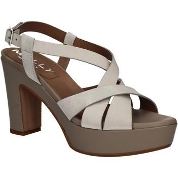 Čevlji  Ženske Sandali & Odprti čevlji Mally 5744 Srebro