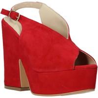 Čevlji  Ženske Sandali & Odprti čevlji Esther Collezioni ALBA 107 Rdeča