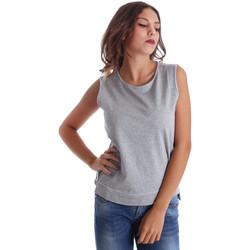 Oblačila Ženske Majice brez rokavov Fornarina BE17T524F42990 Siva
