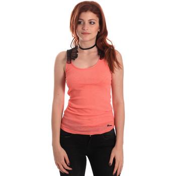 Oblačila Ženske Majice brez rokavov Fornarina BE175J75H26368 Oranžna