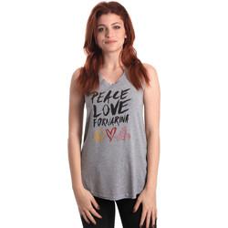 Oblačila Ženske Majice brez rokavov Fornarina BERT476JF7206 Siva