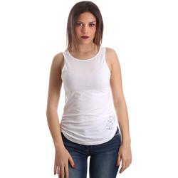 Oblačila Ženske Majice brez rokavov Ea7 Emporio Armani 3GTH54 TJ28Z Biely