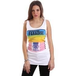 Oblačila Ženske Majice brez rokavov Versace D2HVB4V030384003 Biely