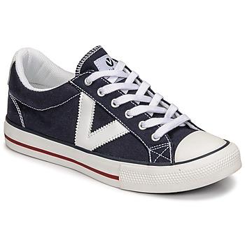 Čevlji  Nizke superge Victoria TRIBU LONA CONTRASTE Modra
