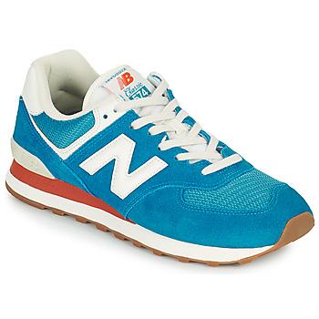Čevlji  Moški Nizke superge New Balance 574 Modra / Bela