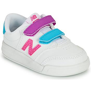 Čevlji  Deklice Nizke superge New Balance COURT Bela / Rožnata