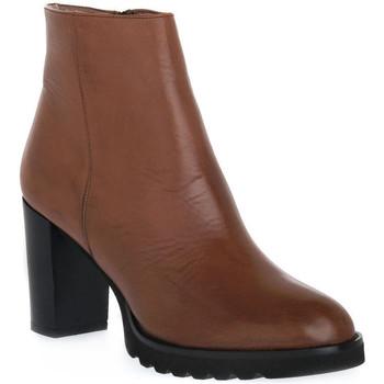 Čevlji  Ženske Gležnjarji Priv Lab 906 CUOIO Marrone