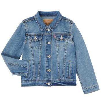 Oblačila Deklice Jeans jakne Levi's 4E4388-M0K Modra
