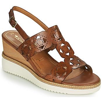 Čevlji  Ženske Sandali & Odprti čevlji Tamaris ALIS Cognac