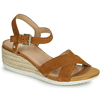 Čevlji  Ženske Sandali & Odprti čevlji Geox D ISCHIA CORDA C Kamel