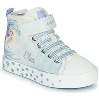 Čevlji  Deklice Visoke superge Geox JR CIAK GIRL Bela / Modra