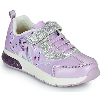 Čevlji  Deklice Nizke superge Geox SPACECLUB GIRL Vijolična