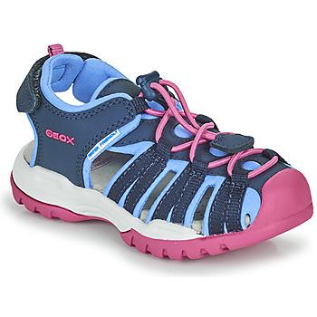 Čevlji  Deklice Športni sandali Geox BOREALIS GIRL Modra / Rožnata