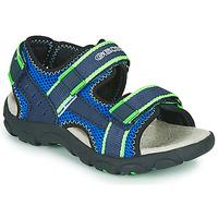 Čevlji  Dečki Športni sandali Geox JR SANDAL STRADA Modra / Zelena