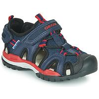 Čevlji  Dečki Športni sandali Geox BOREALIS BOY Rdeča