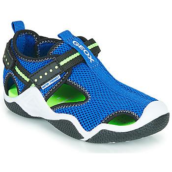 Čevlji  Dečki Športni sandali Geox JR WADER Modra / Zelena