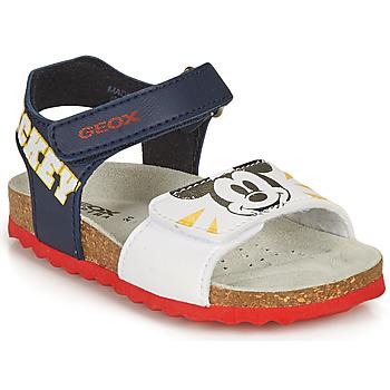 Čevlji  Dečki Sandali & Odprti čevlji Geox SANDAL CHALKI BOY Bela