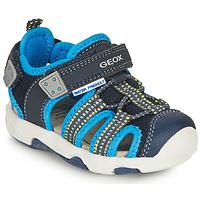Čevlji  Dečki Športni sandali Geox SANDAL MULTY BOY Modra