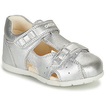 Čevlji  Deklice Sandali & Odprti čevlji Geox KAYTAN Srebrna