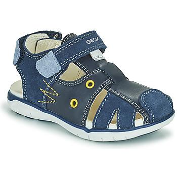Čevlji  Dečki Sandali & Odprti čevlji Geox SANDAL DELHI BOY Modra