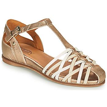 Čevlji  Ženske Sandali & Odprti čevlji Pikolinos TALAVERA W3D Pozlačena