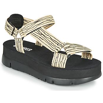 Čevlji  Ženske Sandali & Odprti čevlji Camper ORUGA UP Črna / Bež