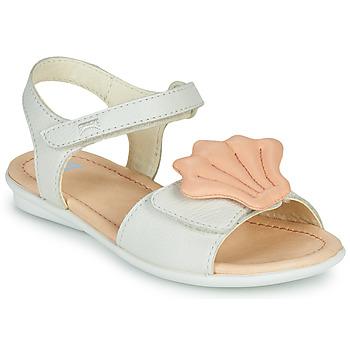 Čevlji  Deklice Sandali & Odprti čevlji Camper TWINS Rožnata / Bela