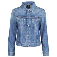 Oblačila Ženske Jeans jakne G-Star Raw 3301 Straight Dnm Jkt Wmn Vybledlá / Shore