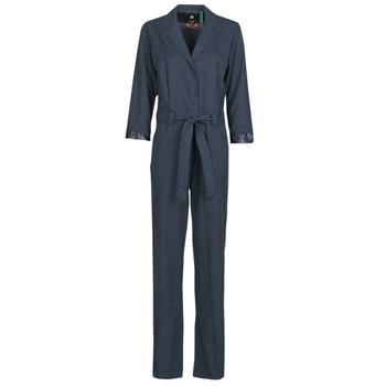 Oblačila Ženske Kombinezoni G-Star Raw Workwear pj jumpsuit 34 slv wmn Modrá