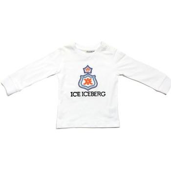 Oblačila Dečki Majice z dolgimi rokavi Iceberg TSICE0316B Bianco
