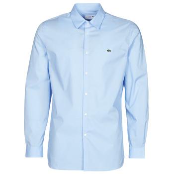 Oblačila Moški Srajce z dolgimi rokavi Lacoste PITTA Modra